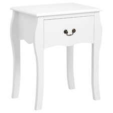 White Vera Bedside Table