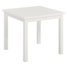White Santa Cruz Acacia Outdoor Side Table