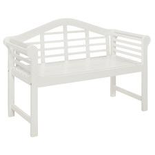 2 Seater White Lantana Acacia Garden Bench