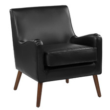 Black Shelley Faux Leather Armchair
