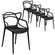 Lola UV-Stabilised Stackable Outdoor Dining Chairs (Set of 4)