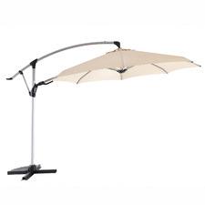 3.3m Sand Coast Aluminium Full Tilt Cantilever Umbrella