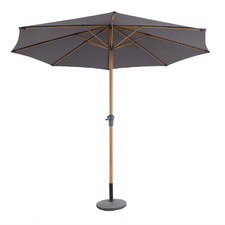 3m Dark Grey Tahiti Aluminium Market Umbrella
