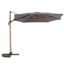 3m Dark Grey Tahiti Aluminium Cantilever Umbrella