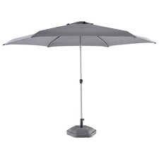 3m Charcoal Coast Aluminium Push-Up Market Umbrella