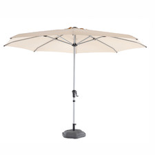 3.5m Sand Coast Aluminium Market Umbrella with Base