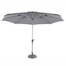 4m Charcoal Coast Aluminium Market Umbrella