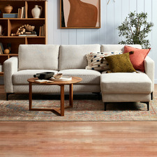 Alexis 3 Seater Corner Sofa with Ottoman