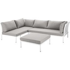 5 Seater Corfu PE Rattan & Aluminium Outdoor Modular Lounge Set