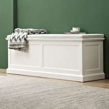 Hamptons Cushioned Storage Bench