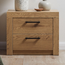 Oak Finish Magnus Bedside Table