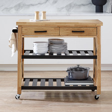 Memphis Wooden Kitchen Island Trolley