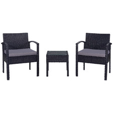 2 Seater Porto PE Rattan Outdoor Chat Set