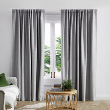 Light Grey Lexington Concealed Tab Top Blockout Curtains (Set of 2)