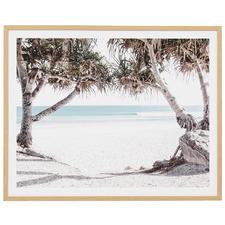 Ocean Hideaway Framed Plexiglass Printed Wall Art