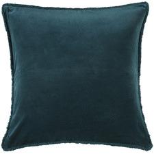 Teal Plush Velvet European Pillowcases (Set of 2)