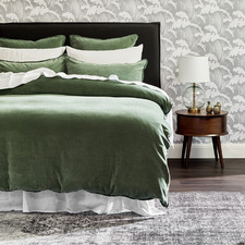 Sage Plush Velvet Quilt Cover Set