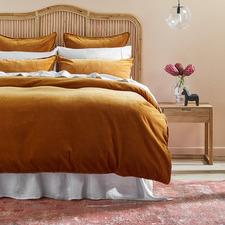 Caramel Plush Velvet Quilt Cover Set