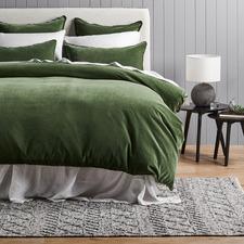 Pine Plush Velvet Quilt Cover Set