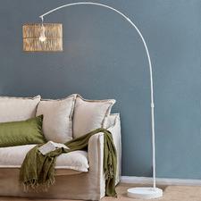 Arc Rattan Floor Lamp