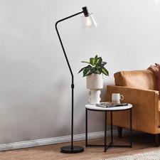 Black Chicago Steel Floor Lamp