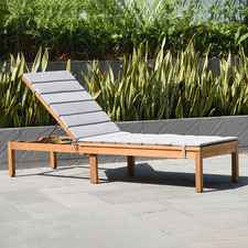 Natural Maui Eucalyptus Wood Wheeled Sun Lounge