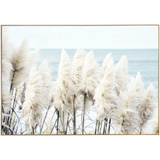 Seaside Pampas Framed Canvas Wall Art