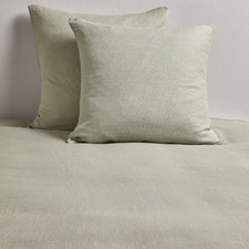 Sage Pure French Flax Linen European Pillowcases (Set of 2)