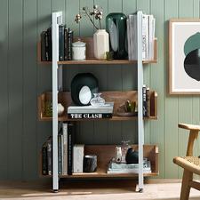 Natural & White Karloff 3 Tier Bookshelf