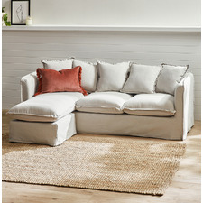 Natural Montauk Slipcover Reversible Chaise Sofa
