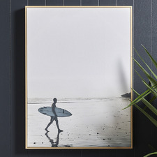 Dawn Surfer Framed Canvas Wall Art
