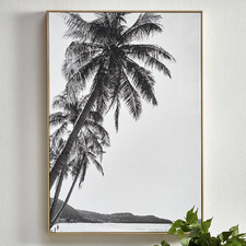 Towering Palms Framed Canvas Wall Art