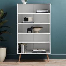 White Vasby Bookcase