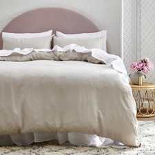 Oatmeal Pure French Flax Linen Quilt Cover Set