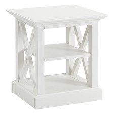 White Hamptons Side Table