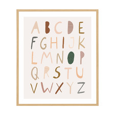 Alphabet Neutral Framed Printed Wall Art
