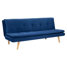 Dark Blue Tribeca 3 Seater Velvet Sofa Bed