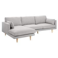 Warm Grey Astrid 3 Seater Sofa with Chaise
