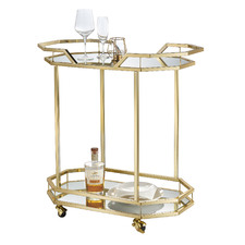 Bahamas Metal & Glass Bar Cart