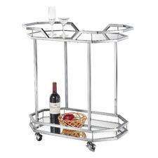 Bahamas Metal & Glass Bar Cart