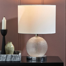 Wells Diamond Glass Table Lamp