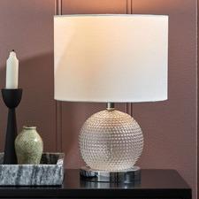 Wells Diamond Glass Table Lamp