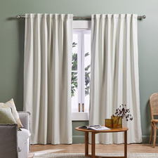 Cream Lexington Concealed Tab Top Blockout Curtains (Set of 2)