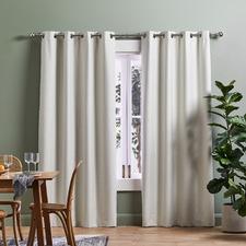 Cream Lexington Eyelet Blockout Curtains (Set of 2)