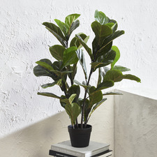 90cm Potted Faux Fiddle Leaf Fig Tree