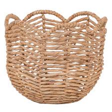 Scalloped Water Hyacinth Basket