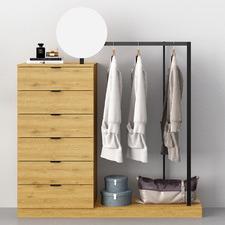Tessa Mini Wardrobe & Drawers with Mirror