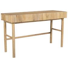Anika 2 Drawer Mango Wood Writing Desk