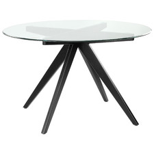 120cm Anders Round Glass-Top Dining Table