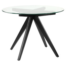 100cm Anders Round Glass-Top Dining Table